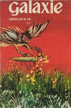 Couverture du Galaxie n°140, par Philippe Legendre-Kvater (janvier 1976)