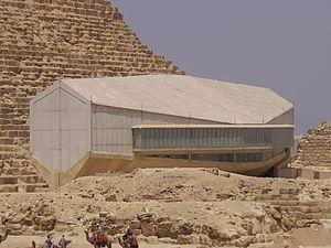 Giza Solar boat museum - Khufu solar ship museum outdoors view