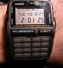 4f20a2fce0a A Casio DBC-30 Data Bank watch which provides calculating and data storage  functions
