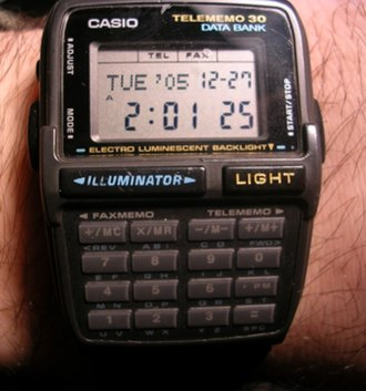 Casio Databank - A Casio DBC-30 Data Bank watch which provides calculating and data storage functions