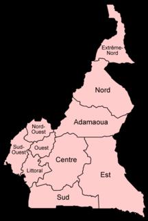 Camerun-Suddivisione amministrativa-Cameroon provinces french