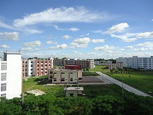 Begum Rokeya University - Rear View of Campus, Begum Rokeya University, Rangpur