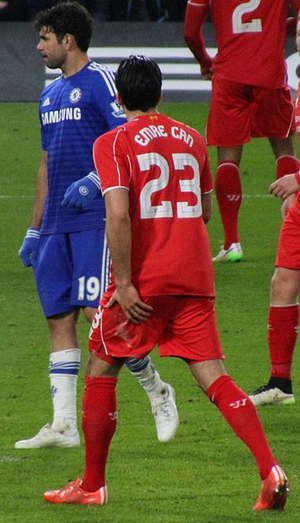 Emre Can - Can playing against Chelsea.