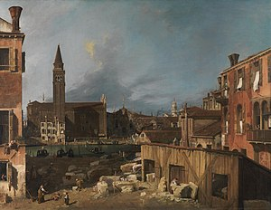 The Stonemason's Yard - Image: Canaletto The Stonemason's Yard