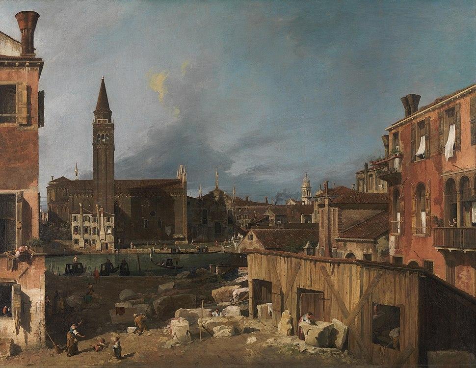 Canaletto - The Stonemason's Yard