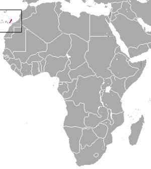 Canarian shrew - Image: Canarian Shrew area