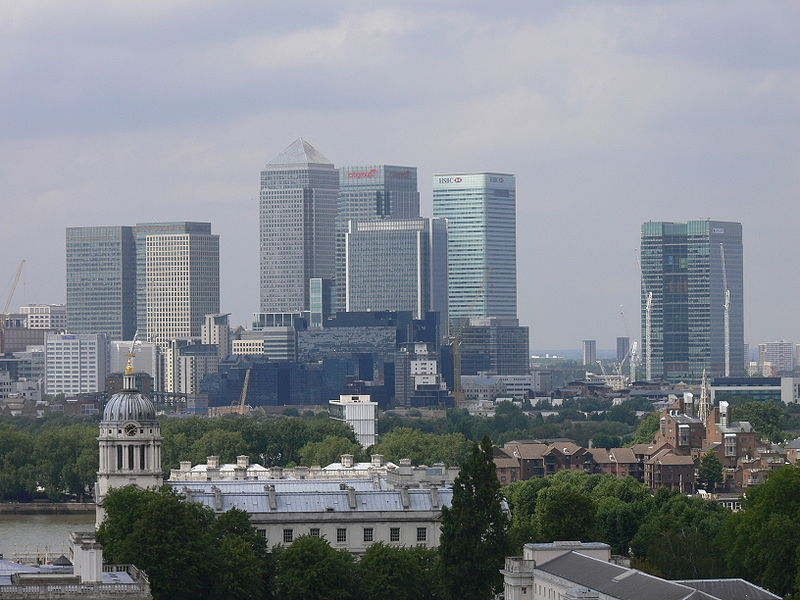 Soubor:Canary Wharf from Royal Greenwich Observatory.jpg