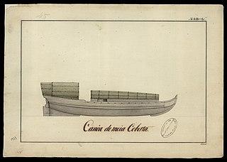 Canoa de meia coberta