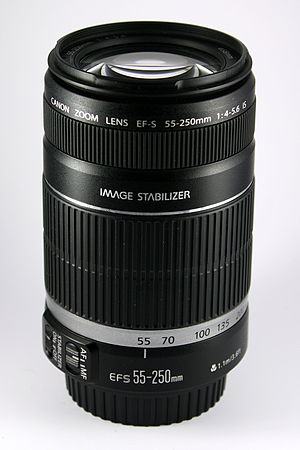 Canon EF-S 55–250mm lens - Image: Canon 55 250mm IS
