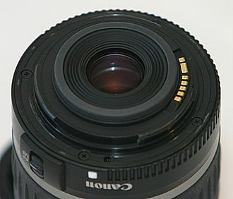 Canon EF-S lens mount - An example of a plastic EF-S lens mount.
