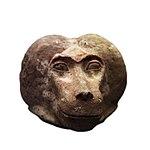 Canopic jar plug shaped as monkey head-MAHG 023460-IMG 1803-white.jpg