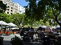 Capetown Greenmarket Square sidewalk cafes.JPG