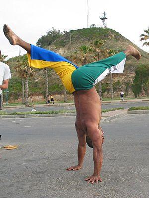Handstand - Handstand with front-split legs