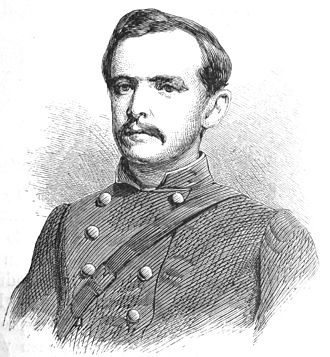 John S. Mosby - Captain Montjoy, wood engraving 1867