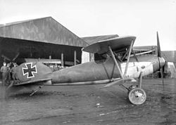 Captured Albatros DVa at Armentieres 1917.jpg