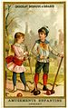 Card depicting two children playing croquet (14245218504).jpg