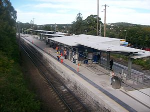Cardiff, New South Wales - Cardiff railway station