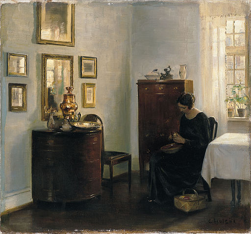 CarlHolsoe woman with a fruit bowl Holsoe