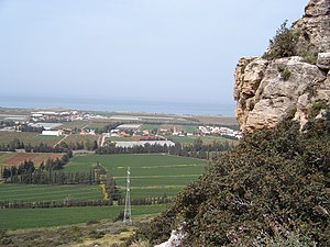 Israeli coastal plain - The view from Mount Carmel across the Coastal Plain to the Mediterranean Sea
