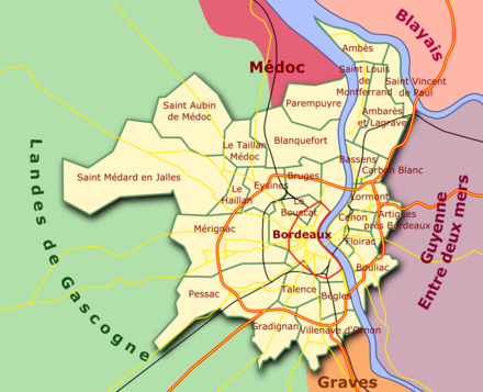Carte Bordeaux Peripherie.Rocade De Bordeaux Wikipedia