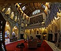 Castle De Haar (1892-1913) - Neogothic architect Pierre Cuypers 01 - Central Lobby.jpg