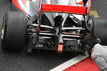 Photo du diffuseur de la McLaren MP4-26.