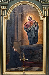 Cathédrale Notre-Dame-de-l'Assomption de Montauban - Vision de Marguerite-Marie, religieuse de la Visitation par Armand Cambon PM82000424.jpg