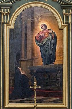 Собор Нотр-Дам-де-Л'Ассомшен де Монтобан - Видение Маргариты-Мари, религиозное посещение от Армана Камбона PM82000424.jpg