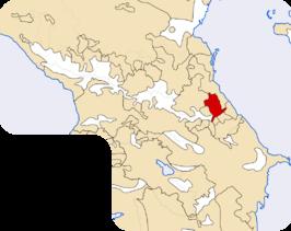 Locatie van de Dargiërs in de Kaukasus