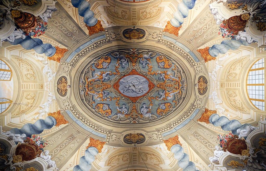 > Plafond de la Galleria Doria Pamphilj à Rome - Photo de Livioandronico2013