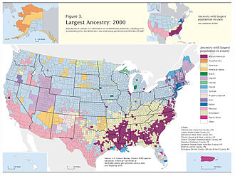 Finnish Americans - Image: Census 2000 Data Top US Ancestries by County