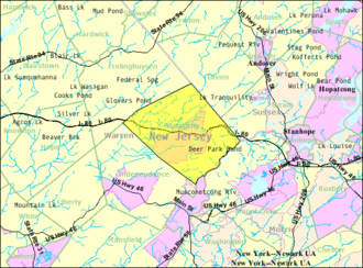 Allamuchy Township, New Jersey - Image: Census Bureau map of Allamuchy Township, New Jersey