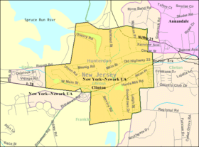 Census Bureau map of Clinton, New Jersey.png