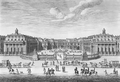 Château de Versailles seen from the forecourt in 1682 by Israël Silvestre.png