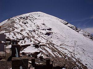 Chacaltaya - View of Chacaltaya glacier, May 2005