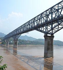 渝怀铁路长寿长江大桥