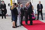 Chargé d'Affaires Kent Logsdon welcomes President Trump to Germany (35760083225).jpg