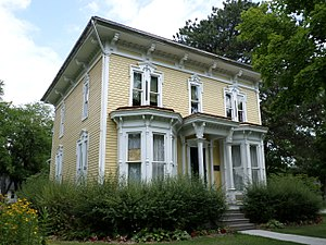 National Register of Historic Places listings in Shiawassee County, Michigan - Image: Charles Calkins House Perry