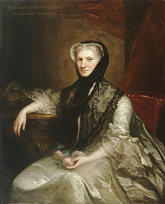 Signatories to the Ladies' Petition for the Establishment of the Foundling Hospital - Image: Charlotte Seymour, Duchess of Somerset