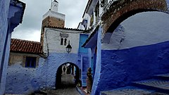 Chefchauen, tipically blue-rinsed houses.jpg