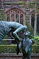 Chester Cathedral - detail of The Water of Life sculpture by Stephen Broadbent in the cloister.jpg