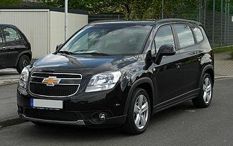 Chevrolet Orlando - Image: Chevrolet Orlando LTZ 1.8 – Frontansicht, 16. April 2011, Hilden