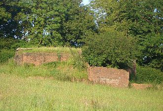 Chew Magna - View from the west of the same World War II pill box