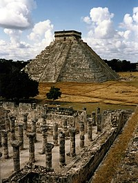 "The famous ""El Castillo"" (The castle), formally named ""Temple of Kukulcan"", in the archeological city of Chichén-Itzá, in the state of Yucatán, Mexico."