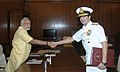 Chief of Naval Staff Admiral RK Dhowan meets Prime Minister Modi in South Block on 3 June 2014.jpg