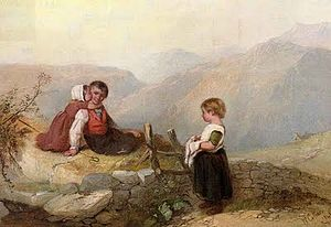 William Collins (painter) - Children on a mountain top