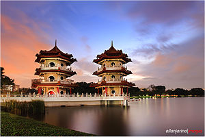 Chinese Garden, Singapore - The Pagoda Twins