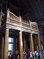 Choir organ of the Basilica in Eger, 2016 Hungary.jpg