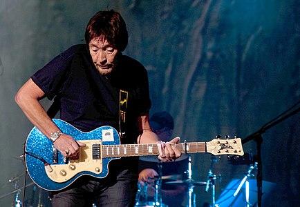 Chris Rea during the Santo Spirito Tour; concert at Sala Kongresowa, Warsaw, Poland on February 5, 2012.