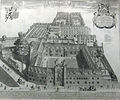 Christ's College, Cambridge by Loggan 1690 - sanders 6179.jpg